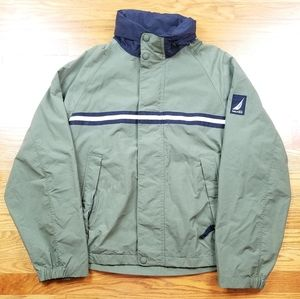 VTG Nautica Windbreaker Hidden Hood Zip Up Jacket
